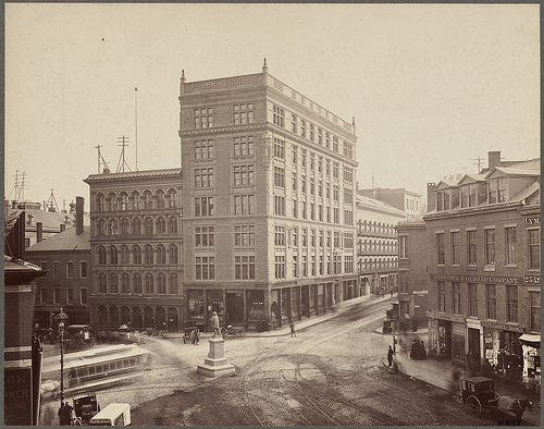 Boston - Hemenway Building - Scollay Square, via Boston Public Library