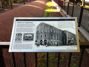 Historical Marker on Downtown Lowell's Merrimack Street