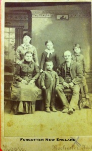Sylvester NIxon, with his third wife, Sarah Ann Staton, and younger children, ca. 1880