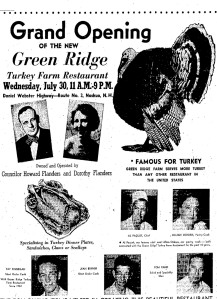 Green Ridge Turkey Farm Restaurant Ad