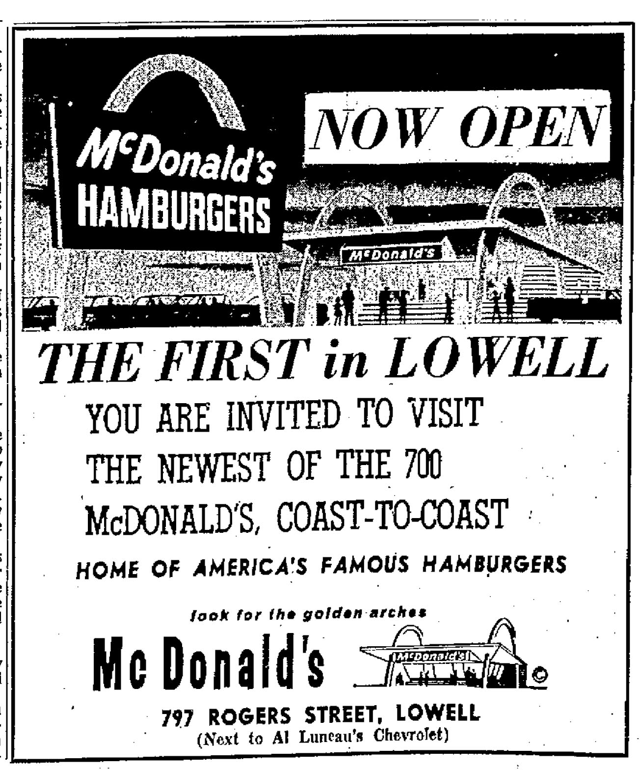 When Mcdonald S First Came To Massachusetts 1960s Ryan