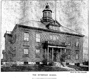 The Riverside School - South Lowell, Massachusetts, 1910.  (Credit:  Lowell Sun: Dec. 3, 1910)