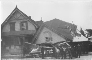 Damage caused by the 1890 Lawrence Cyclone (Courtesy:  Illustrated American, 1890)