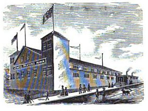 The Lowell Skating Rink, on Gorham Street, ca. 1884 (Source:  The New England Magazine, An Illustrated Monthly, Vol.1)