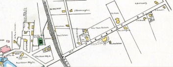 From the 1889 Middlesex Co. Atlas.  At the time, the future Farnan Hosptial was owned by F. Clarke