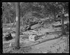 From the Aftermath of the 1938 New England Hurricane:  Storm Debris (Courtesy of the Boston Public Library, Leslie Jones Collection)