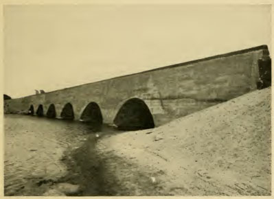 Lowell's Six Arch Bridge, once also known as the Six Circle Bridge, spanning the Concord River on Billerica Street.