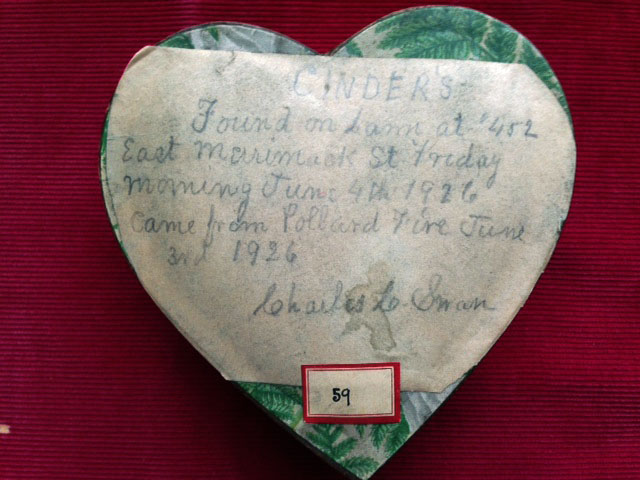 The Box of Ashes - Top, with Explanatory Note