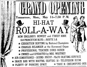 The Grand Re-Opening of the Hi Hat Rollaway  (Credit:  Lowell Sun - May 3, 1951)