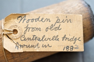 Wooden Pin Label, 1882