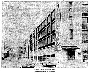 The Giant Store, as it appeared in 1973.  (Courtesy:  Lowell Sun, Oct. 14, 1973, pg. E4)