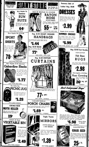 A Giant Store Ad from July 1943