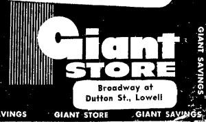 Giant Store logo, ca. 1961