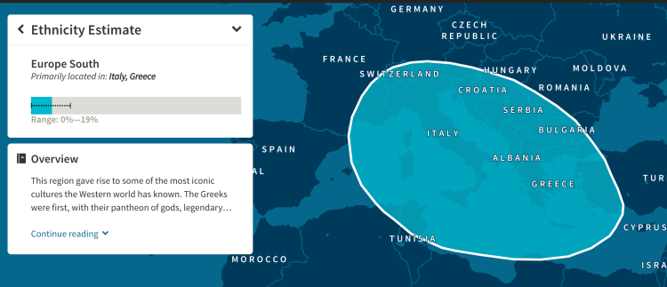 Ancestry DNA Testing Results 1