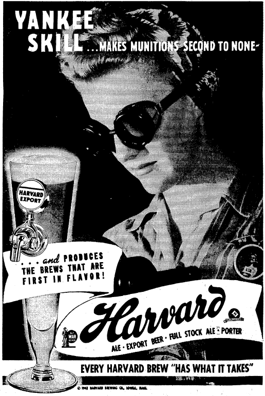 1943 Harvard Brewing Ad
