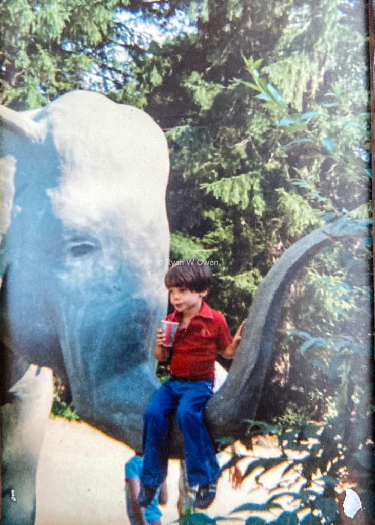 Benson's Lucky Elephant Concrete 1980