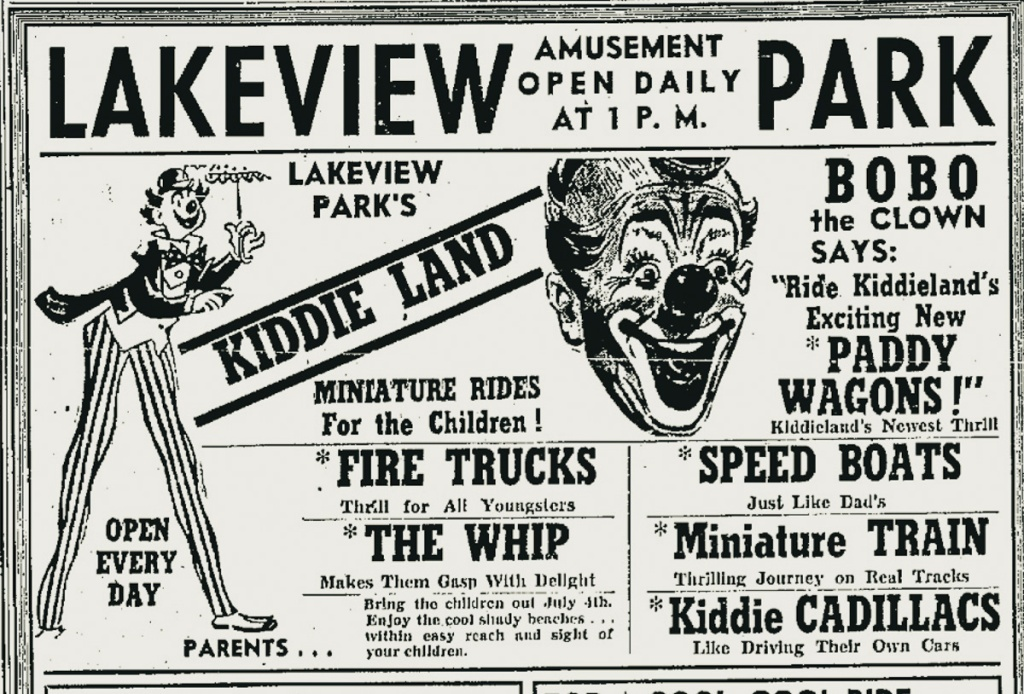 Trolley Park Ad for Lakeview Park