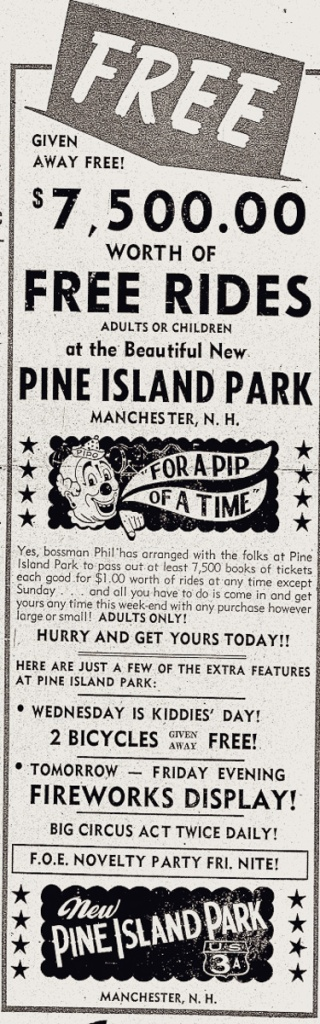 Trolley Park Ad for Pine Island Park